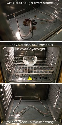 The next time you have a spill in the oven, follow these simple steps to clean it out without using a lot of harsh chemicals.