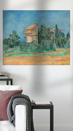 Kunstwerk: 'De duiventoren van Bellevue, Paul Cézanne' van uit de oude meesters collectie