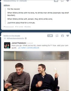 Can we just talk about Jensen's face for a second. Like, WTF is going through his head at that moment because really.