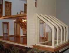 LOVE the solarium!!!! Contemporary style dollhouse