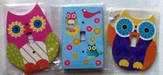 Amazon.com: Owl Themed Standard Light Switch Cover, Plate. 3 Varieties Wooden, Colorful, Includes 2 Screws for Mounting: Home & Kitchen