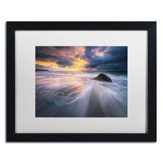 Ocean Painting by Mathieu Rivrin Matted Framed Photographic Print