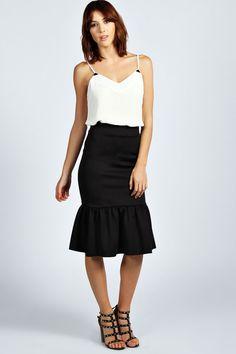 Peplum black skirt on Reward Style
