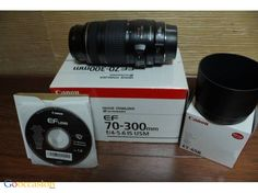 Téléobjectif CANON 70-300mm 4-5.6 IS USM + Pare soleil ET65 - http://www.go-occasion.fr/teleobjectif-canon-70-300mm-4-5-6-is-usm-pare-soleil-et65/