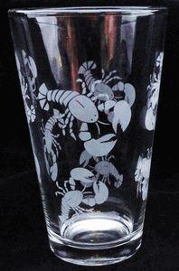 Lobster Beverage Glasses - set of 4