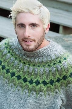 [i loveee the yoke design on this sweater. it would be divine in just about any color family] Ravelry: Asymptote (Men's Pullover) pattern by Lars Rains Boys Sweaters, Men Sweater, Icelandic Sweaters, Knit Art, Quick Knits, Crochet Woman, Fair Isle Pattern, Knitted Hats, Knitting Patterns
