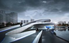 Futuristic Bridge planned for Wuxi Xidong Park, China
