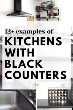 Considering black kitchen countertops for your next renovation? Find inspiration in each of these kitchens with gorgeous black counters. Black Quartz Countertops   Black Granite Countertops   Black Soapstone Counters   Painted Black Kitchen Countertop   Dark Gray Kitchen Countertop Black Quartz Countertops, Black Kitchen Countertops, Black Counters, Soapstone Counters, Budget Kitchen Remodel, Kitchen On A Budget, Diy Kitchen, Kitchen Makeovers, Kitchen Decor