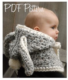 This is a listing for The PATTERN ONLY for The Bryor Bunny Hood    This hood is handcrafted and designed with comfort and warmth in mind... Perfect for layering through all the seasons...    This hood makes a wonderful gift and of course also something great for you or your little one to wrap up in!    All patterns written in standard US terms!    *Sizes: 6/9 month, 12/18 month,Toddler, Child  *Any Super Bulky yarn    ***You can always contact me if you have any problems with the pa...
