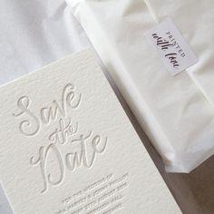 letterpress save the dates