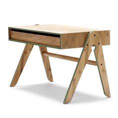 New! Color Green for WedoWood, Geos Desk, Toddler Design, Bamboo Furniture, Danish Design