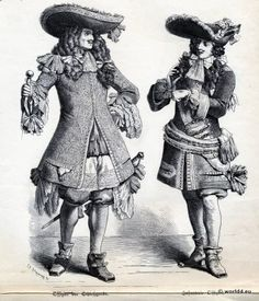 Officer of the Palace Guard, Infantry Officer.  French Baroque Costumes in 1680, 17th century.