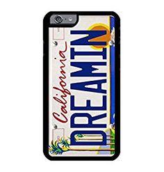 Personalized Custom printed Premium iPhone 6 Plus / 6s Plus Black Case with California License Plate Dreamin