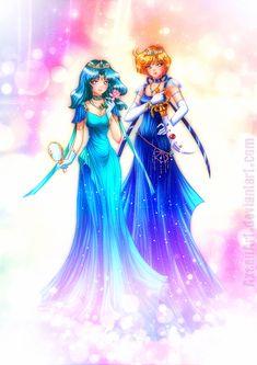 Neo Princess Uranus and Neptune by AxsenArt.deviantart.com on @deviantART