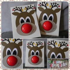Sigrids kreative ART: Rudolf #weihnachten #stampinup #punchart