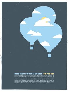 Broken Social Scene Poster design by& Small Stakes Web Design, Layout Design, Design Art, Band Posters, Cool Posters, Ode An Die Freude, Broken Social Scene, Typography Design, Lettering