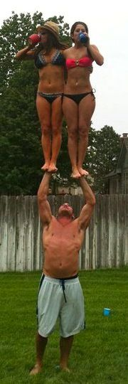 No, your right....cheerleading is not a sport, its easy!  Okay...you do this...