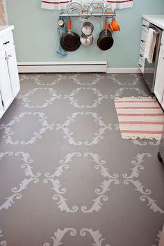 116 Best Stenciled Floors Images Stenciled Floor Flats