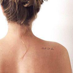 at home temp tattoo Let It Be Temporary Tattoo (Set of Small Tattoos Tattoo Platzierung, Wörter Tattoos, Cursive Tattoos, Tattoo Hals, Elbow Tattoos, Temp Tattoo, Tattoo Set, Temporary Tattoo, Above Elbow Tattoo