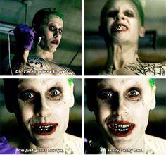 """I'm not gonna kill ya , I'm just gonna hurt ya really really BAD "" yeah Jared opps I mean Joker"