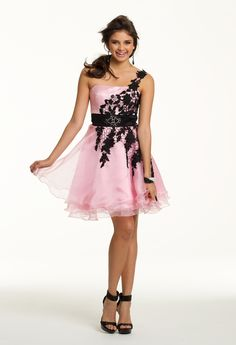 One Shoulder Short Lace Dress from Camille La Vie and Group USA