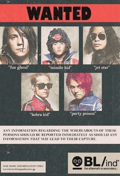 My Chemical Romance - Wanted KillJoys. Wait it's Girl, not Missile Kid. I think? Right? She's Girl in the comics.