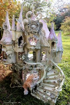 paper mache merveilles en paper french fairy house   fairiehollow.com