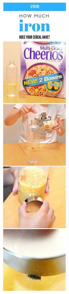 Iron in Cereal Discovery - Food #Science #ExperimentsForKids #STEM