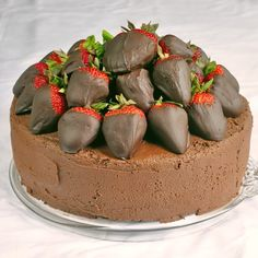 Chocolate Fudge Cake with Chocolate Dipped Strawberries - Rock Recipes - Rock Recipes