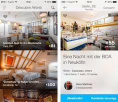 Airbnb renueva su aplicación para iPhone