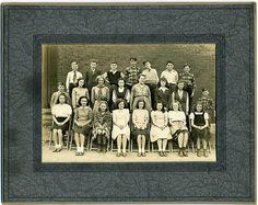 Class Photo: Girl Scout Girl, Confident Boy, And Classmates, Woodland St. School [Worchester, Massachusetts?] 0ct. 31, 1945
