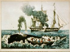 """Currier and Ives, """"Whale Fishery"""""""