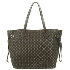 934bd1b1efdec Authentic Louis Vuitton Idylle Neverfull MM Tote Bag Dark Brown M40513 Used  F S Authentisch