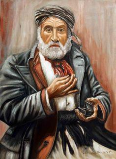 Vecchio con tabacchiera - Algeria tecnica olio su tela 50x70cm