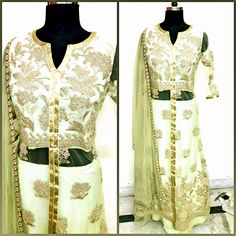 Elegant Dresses by @ethnicfusionhue  #fashion #diva #ethnic #fusion #lifestyle #dress #golden #RajouriGarden #Delhi