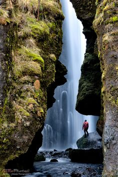 Gljúfrafoss fall - 600m walk from Seljalandsfoss | Seljalandsfoss - one of…