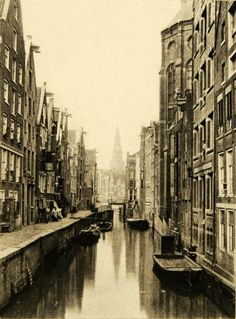 Old Amsterdam, North Holland  1894 photogravure by Charles M. Mitchell