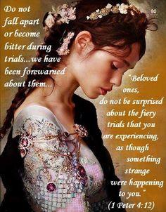 Healing Scriptures, Scripture Verses, Bible Verses Quotes, Bible Scriptures, Faith Quotes, Spiritual Thoughts, Spiritual Quotes, 1 Peter 4 12, Get Closer To God