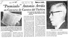 Premiado cuento de Antonio Arráiz luego de ser fusilado. Publicado el 10 de agosto de 1977.