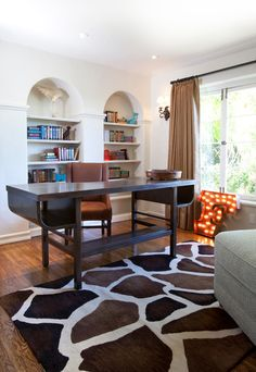 transitional home office by Laura U, Inc.