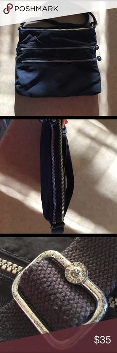 Kipling Alvar Crossbody Bag Metal is a bit tarnished from use (shown) Kipling Bags Crossbody Bags