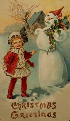An old fashioned Christmas card..