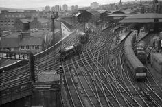 Newcastle Central Station from the Castle Keep, 1963 | 1960s | Newcastle | History | Nostalgia | North East | Train Stations | Newcastle Station | Newcastle Train Station | Black and White photos