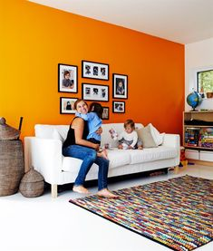 Grey And Orange Living Room orange interior design | orange grey, fall decor and feelings