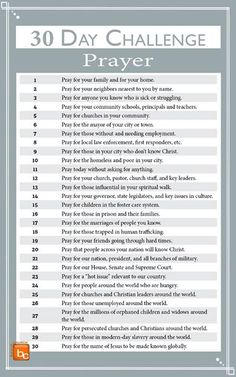 8 Awesome Free Challenges That Will Improve All Areas Of Your Life. I love how this post includes so many aspects of life! The fitness and health challenges are great, but I really like how there is a relationship, money, and parenting challenge included. Prayer Closet, Prayer Room, Bible Prayers, Bible Scriptures, Prayers For Kids, Prayer For Parents, Bible Notes, Power Of Prayer, My Prayer