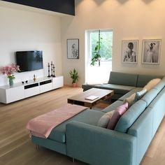 Possible situation of sofa in Zamora 12 Living Room Sofa Design, Living Room Decor Cozy, Home Living Room, Apartment Living, Living Room Designs, Home Interior Design, Posters, Sweet, Dream Homes
