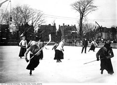 Women playing hockey, Toronto, c. 1912.