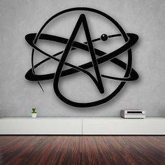 Wall Stickers Vinyl Decal Atom Atheism Religion Science Great Decor (ig1714)