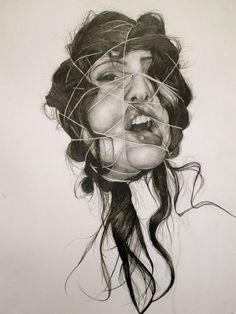 "String. Graphite on Paper. 22"" x 30"". 2011."