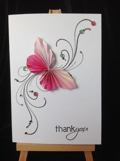 Flutter by by Geri Glynn - Cards and Paper Crafts at Splitcoaststampers Making Greeting Cards, Greeting Cards Handmade, Paper Cards, Diy Cards, Butterfly Cards Handmade, Karten Diy, Fancy Fold Cards, Vintage Paper Dolls, Card Making Inspiration